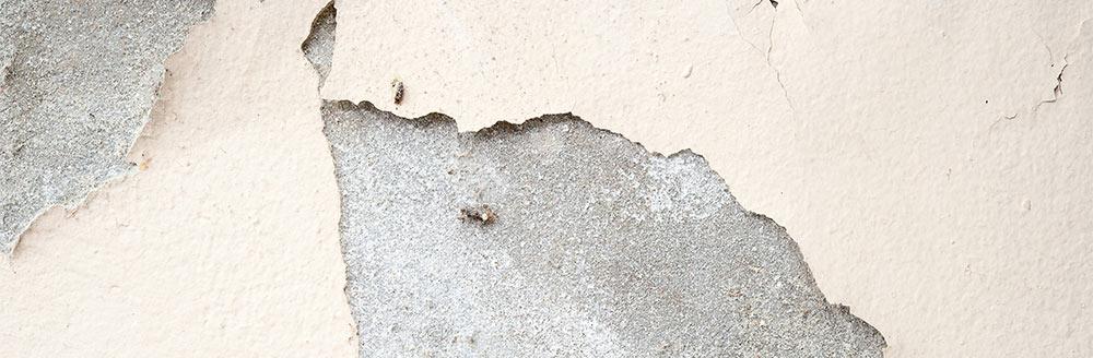 Peeling from concrete floors