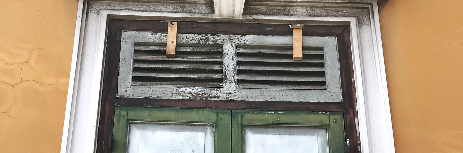 Peeling from windows sills and frames